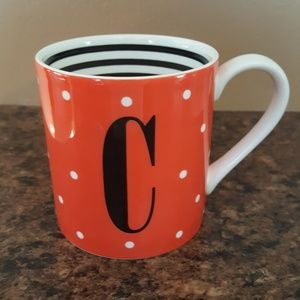 Kate Spade to the letter initial mug